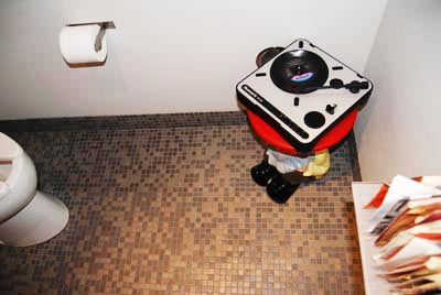 Turntable in a Bathroom
