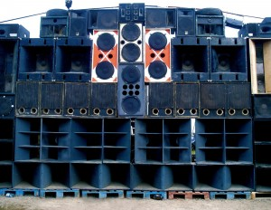 Bass for your face - a wall of speakers