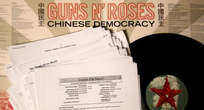 Guns n Roses Chinese Democracy record with legal papers