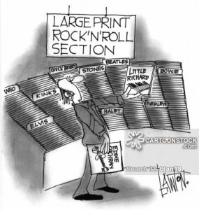 Large print rock'n'roll section