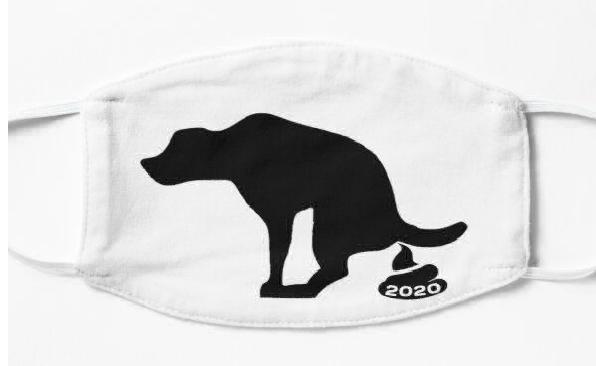 Poop 2020 Mask Dog art